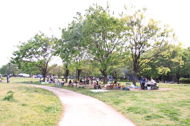 公園でBBQ